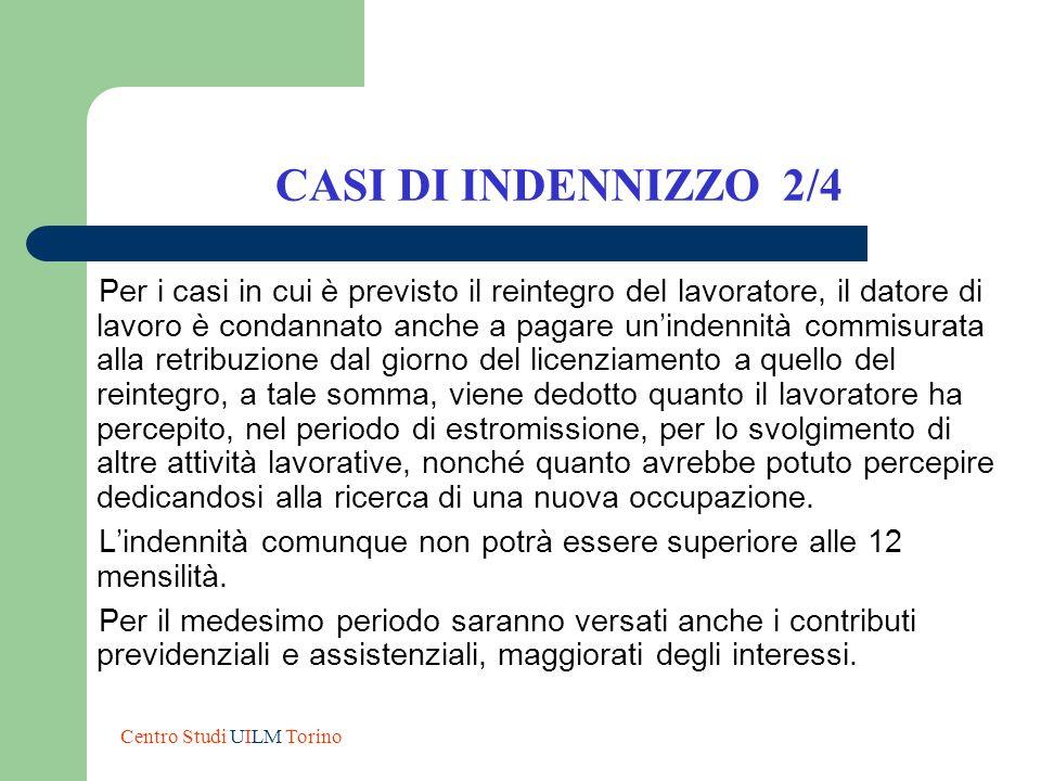 CASI DI INDENNIZZO 2/4