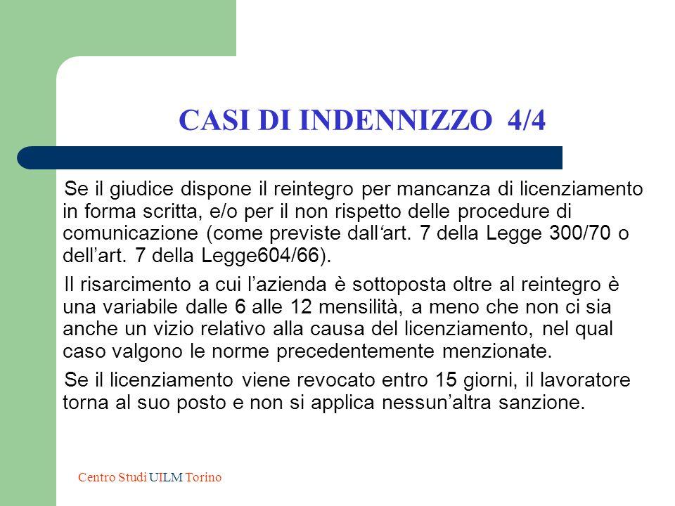 CASI DI INDENNIZZO 4/4
