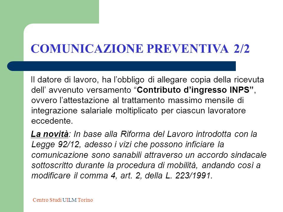 COMUNICAZIONE PREVENTIVA 2/2