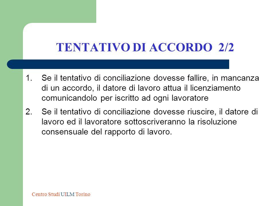 TENTATIVO DI ACCORDO 2/2