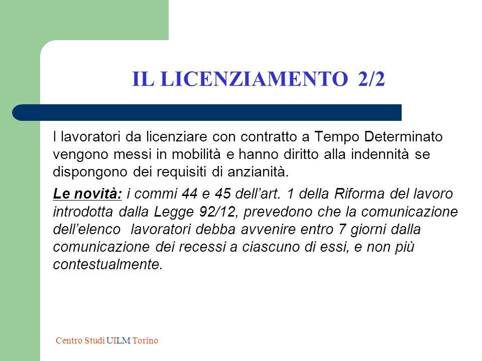 IL LICENZIAMENTO 2/2