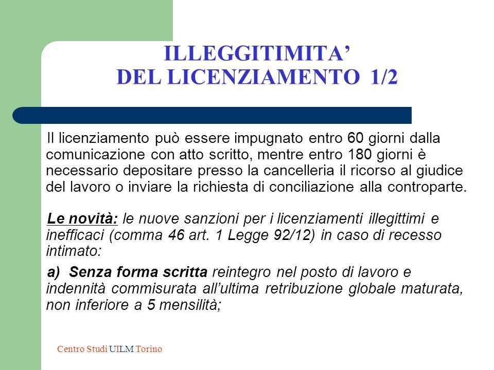 ILLEGGITIMITA' DEL LICENZIAMENTO 1/2