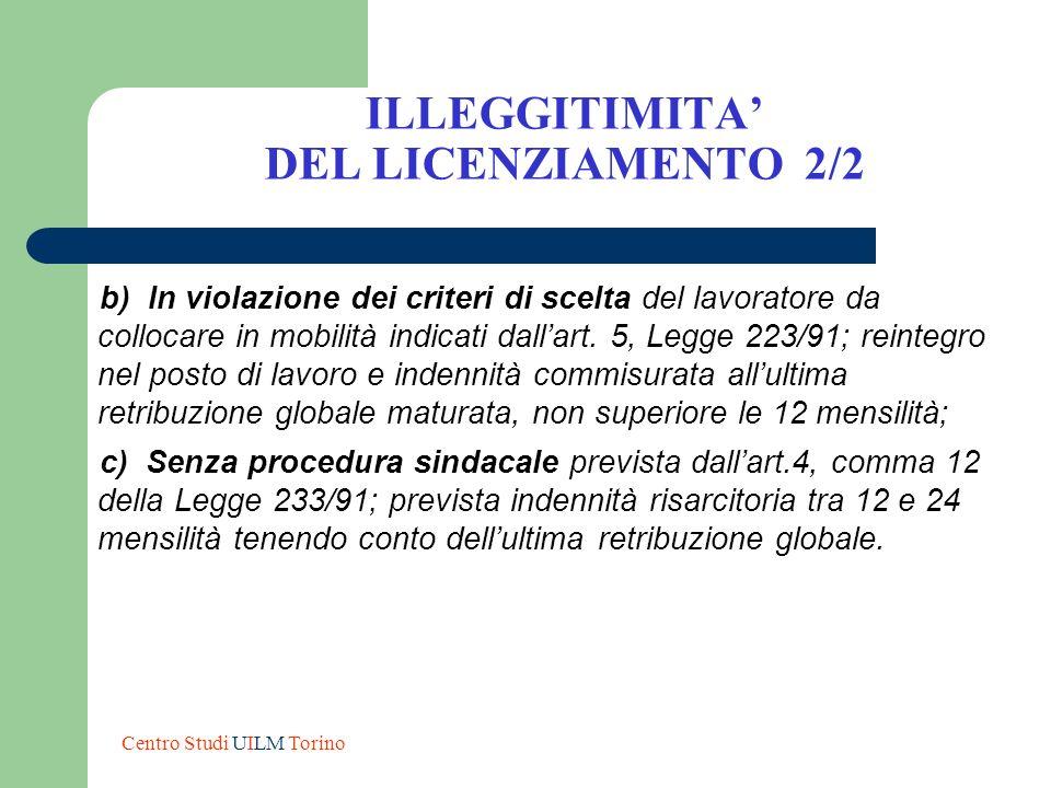 ILLEGGITIMITA' DEL LICENZIAMENTO 2/2