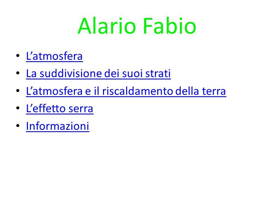 Alario Fabio L'atmosfera La suddivisione dei suoi strati