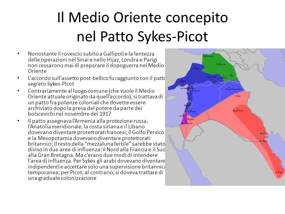 Il Medio Oriente concepito nel Patto Sykes-Picot