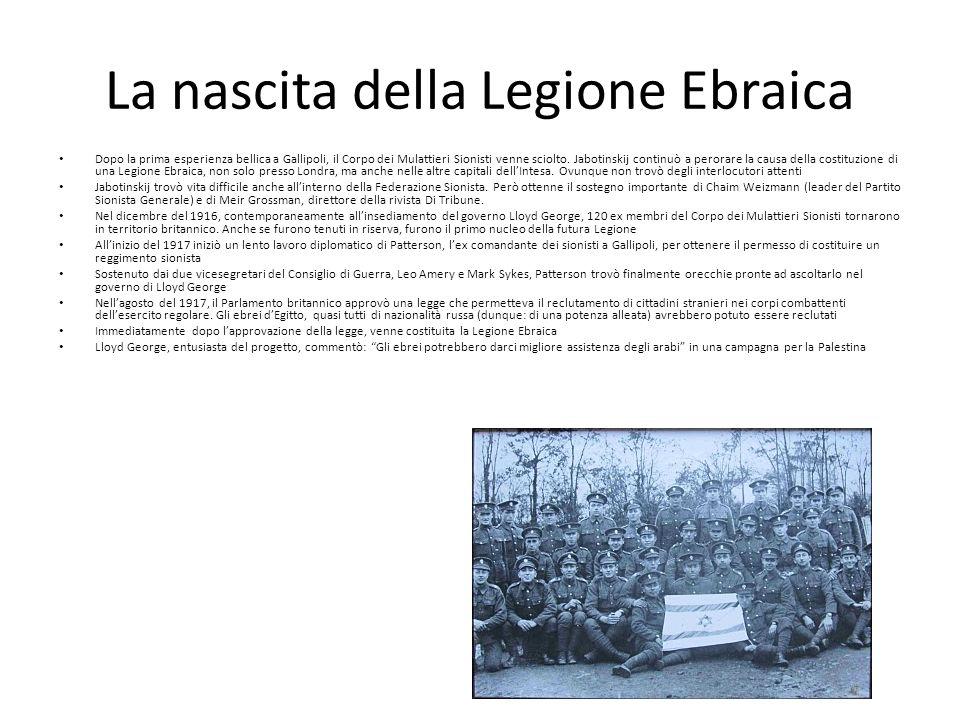 La nascita della Legione Ebraica
