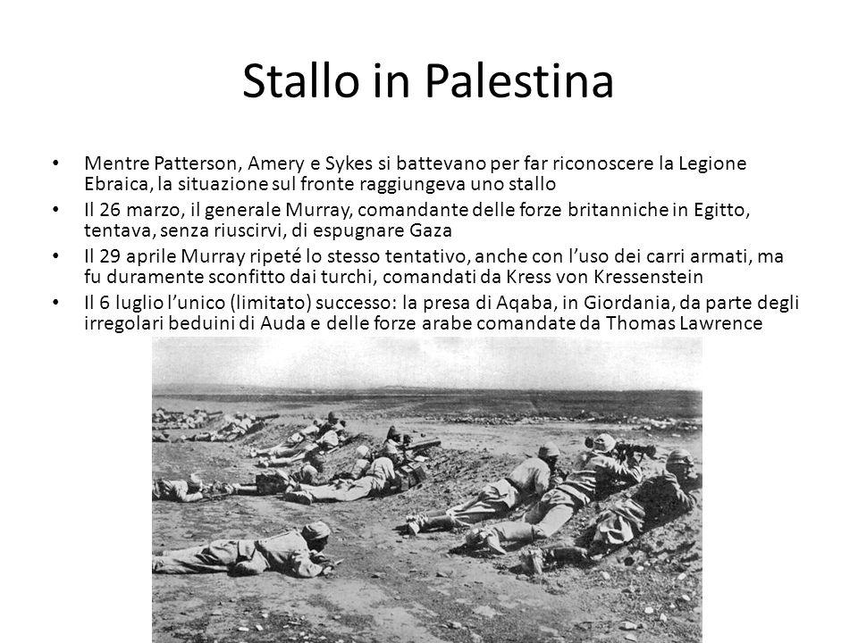 Stallo in Palestina