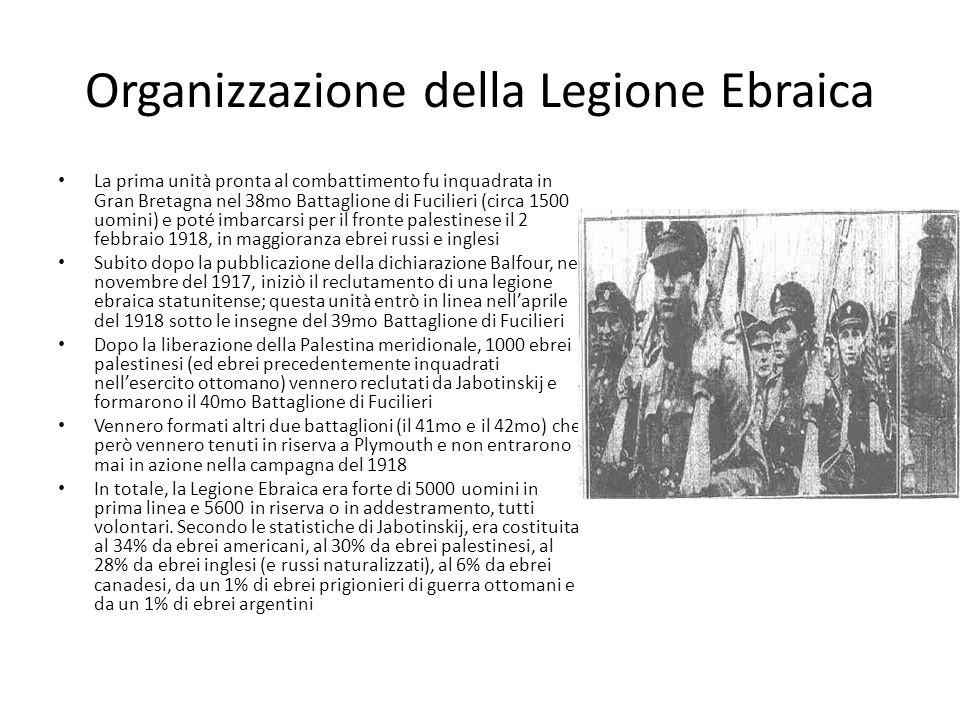 Organizzazione della Legione Ebraica