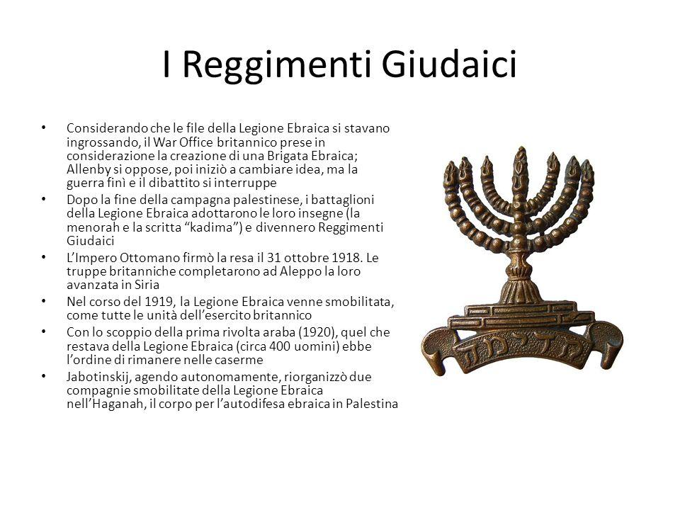 I Reggimenti Giudaici