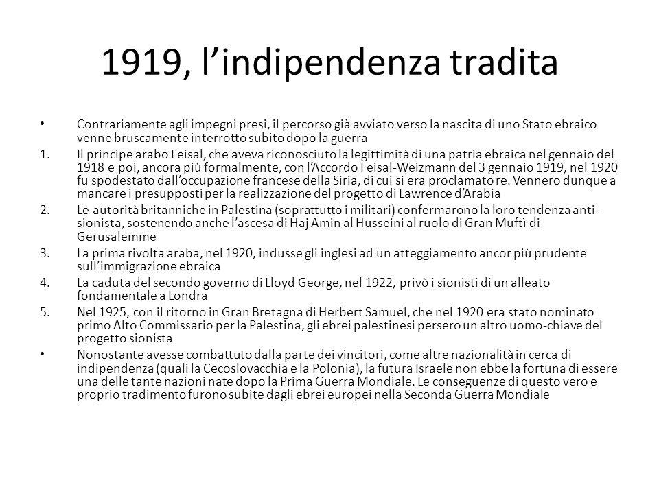 1919, l'indipendenza tradita