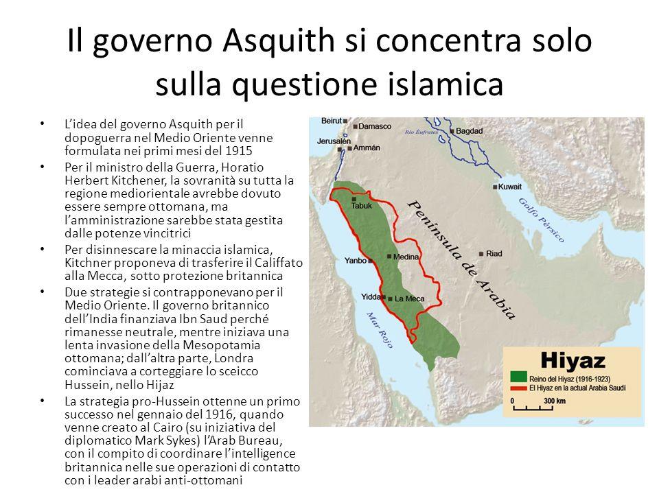 Il governo Asquith si concentra solo sulla questione islamica