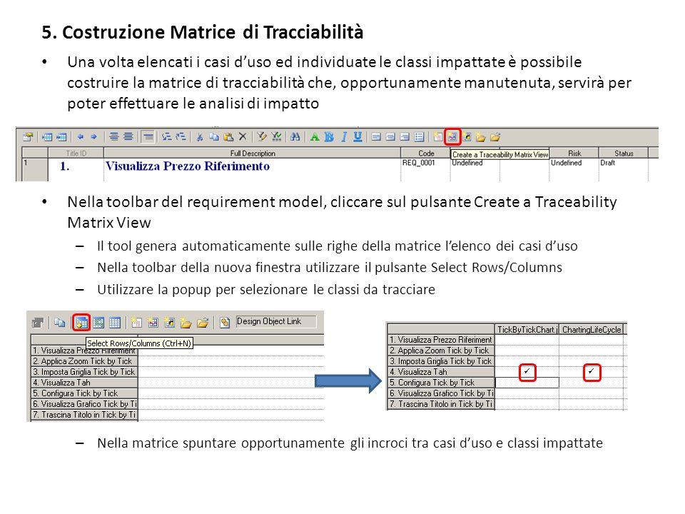 5. Costruzione Matrice di Tracciabilità