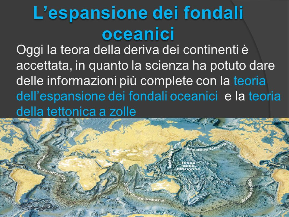 L'espansione dei fondali oceanici