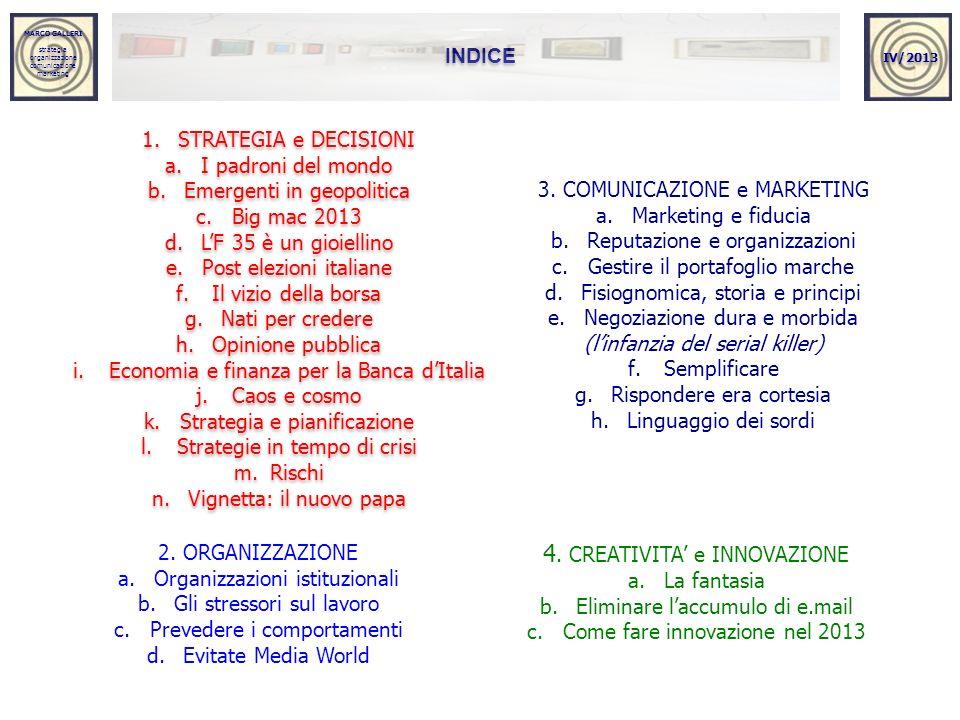 4. CREATIVITA' e INNOVAZIONE
