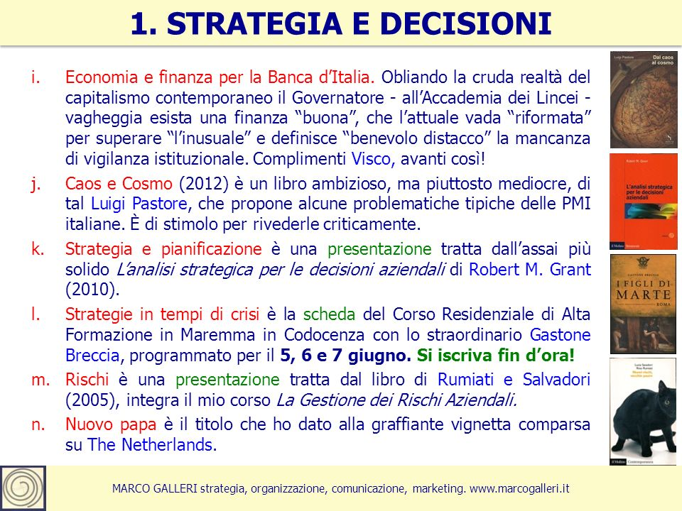 1. STRATEGIA E DECISIONI
