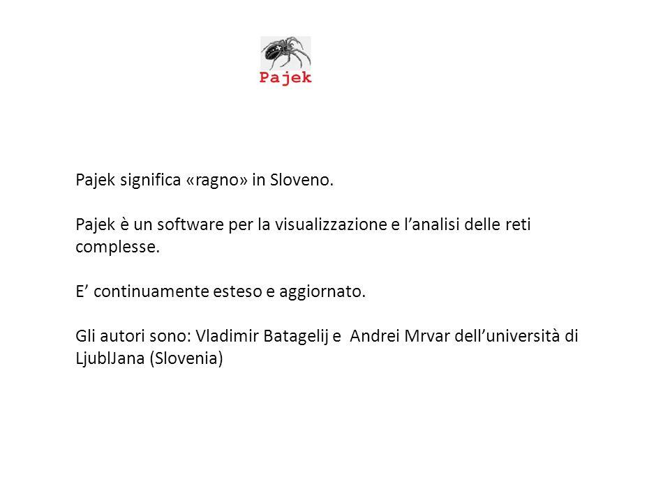 Pajek significa «ragno» in Sloveno.