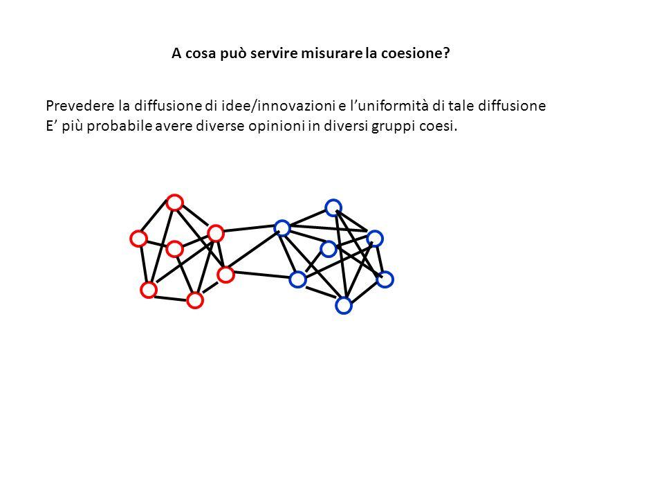 A cosa può servire misurare la coesione