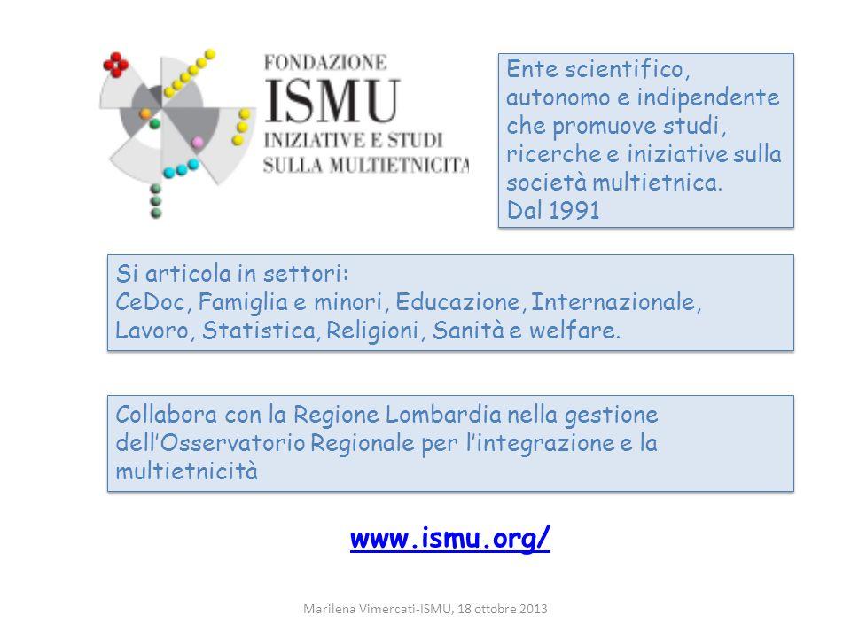 Marilena Vimercati-ISMU, 18 ottobre 2013
