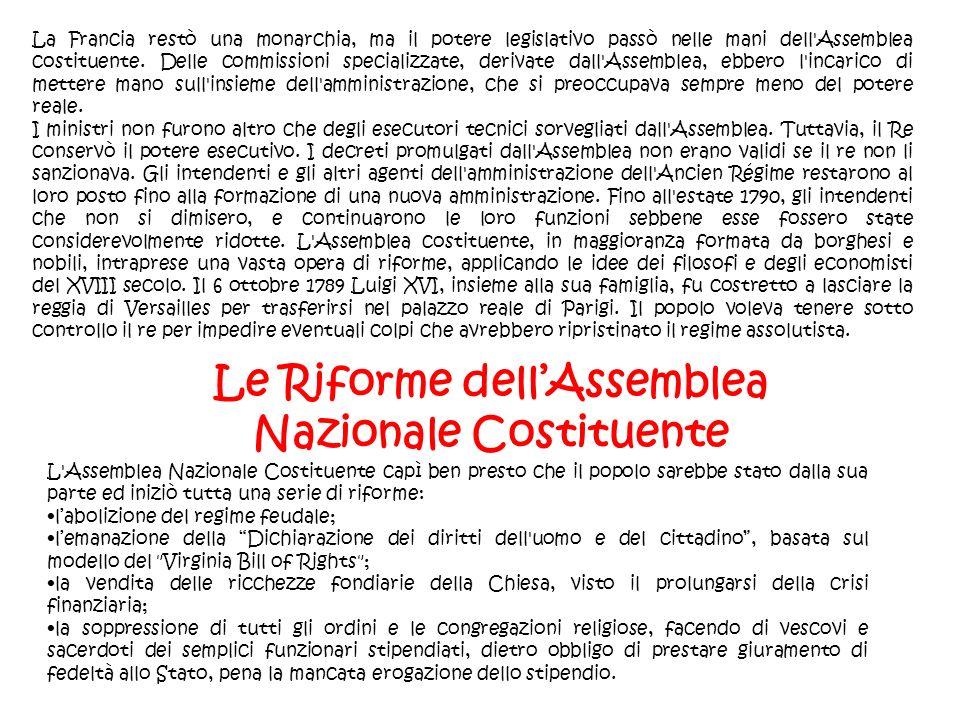 Le Riforme dell'Assemblea Nazionale Costituente