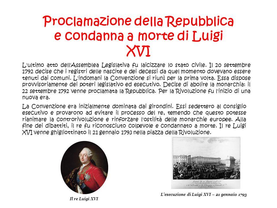 Proclamazione della Repubblica e condanna a morte di Luigi XVI