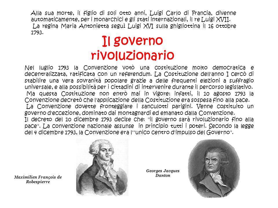 Il governo rivoluzionario Georges Jacques Danton