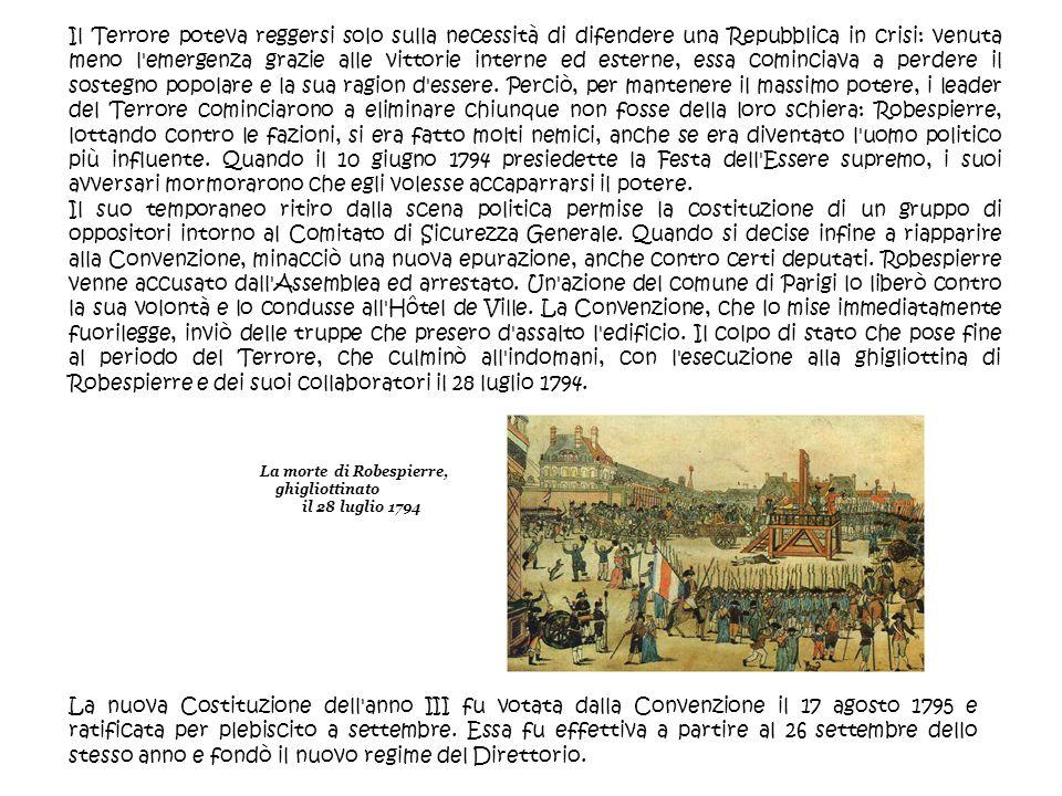 La morte di Robespierre, ghigliottinato