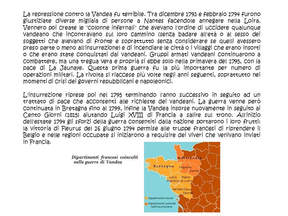 Dipartimenti francesi coinvolti nelle guerre di Vandea