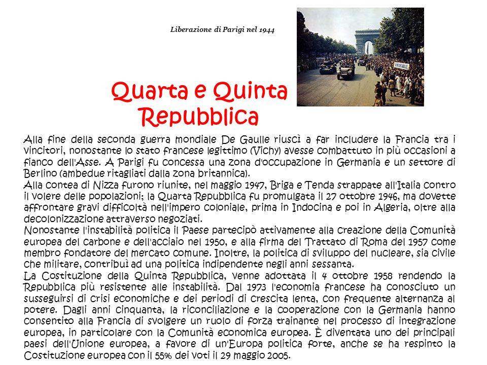 Liberazione di Parigi nel 1944 Quarta e Quinta Repubblica