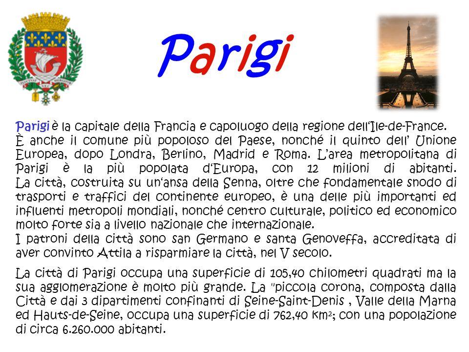ParigiParigi è la capitale della Francia e capoluogo della regione dell'Ile-de-France.