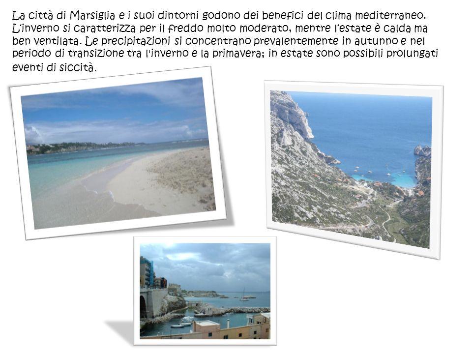 La città di Marsiglia e i suoi dintorni godono dei benefici del clima mediterraneo.