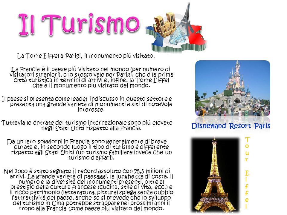La Torre Eiffel a Parigi, il monumento più visitato.