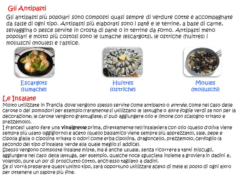 Gli Antipasti Le Insalate