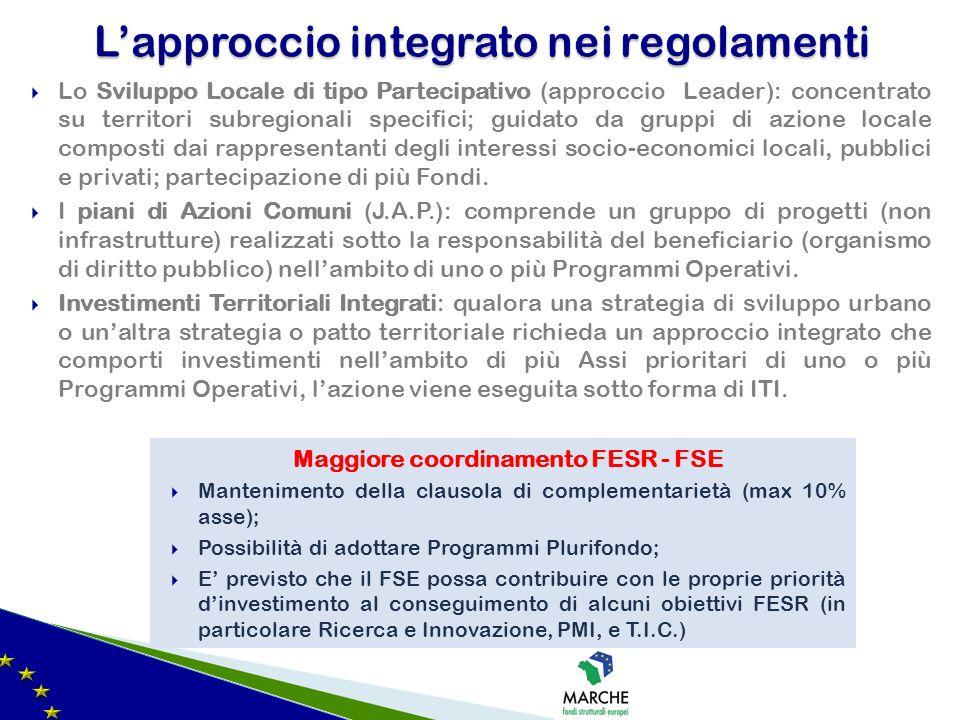 L'approccio integrato nei regolamenti