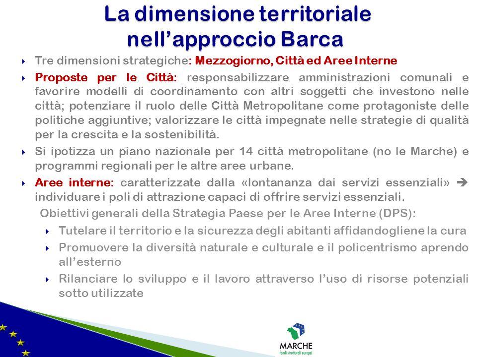 La dimensione territoriale nell'approccio Barca