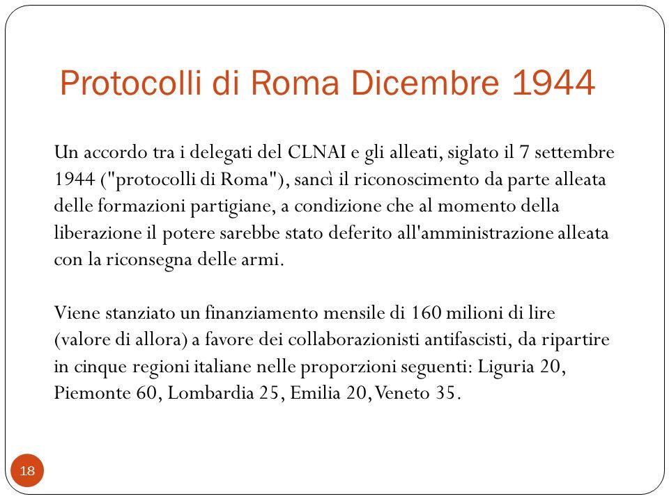 Protocolli di Roma Dicembre 1944