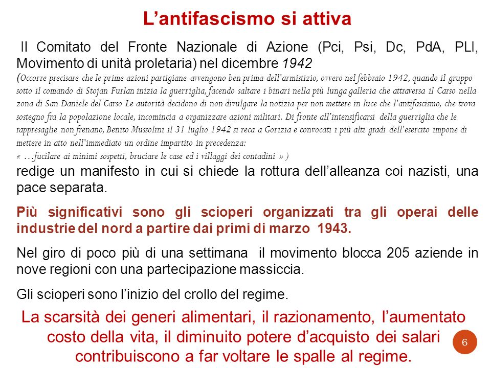 L'antifascismo si attiva