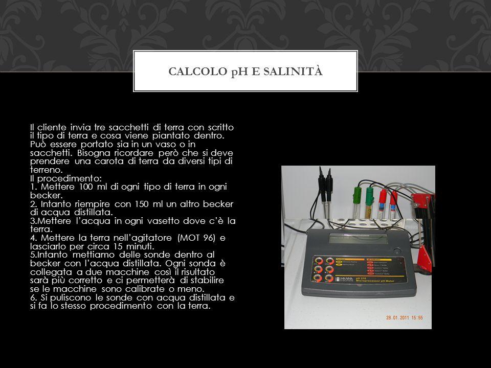 Calcolo pH e salinità