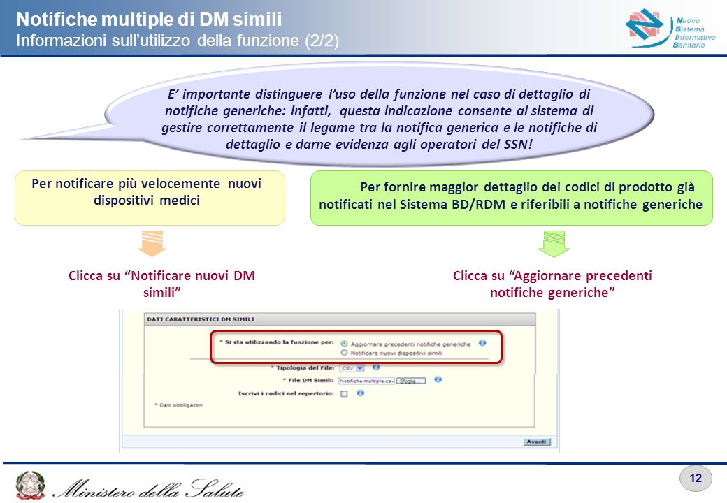Notifiche multiple di DM simili