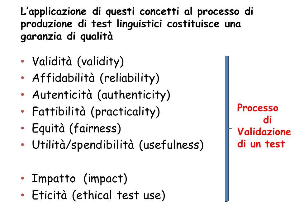 Affidabilità (reliability) Autenticità (authenticity)