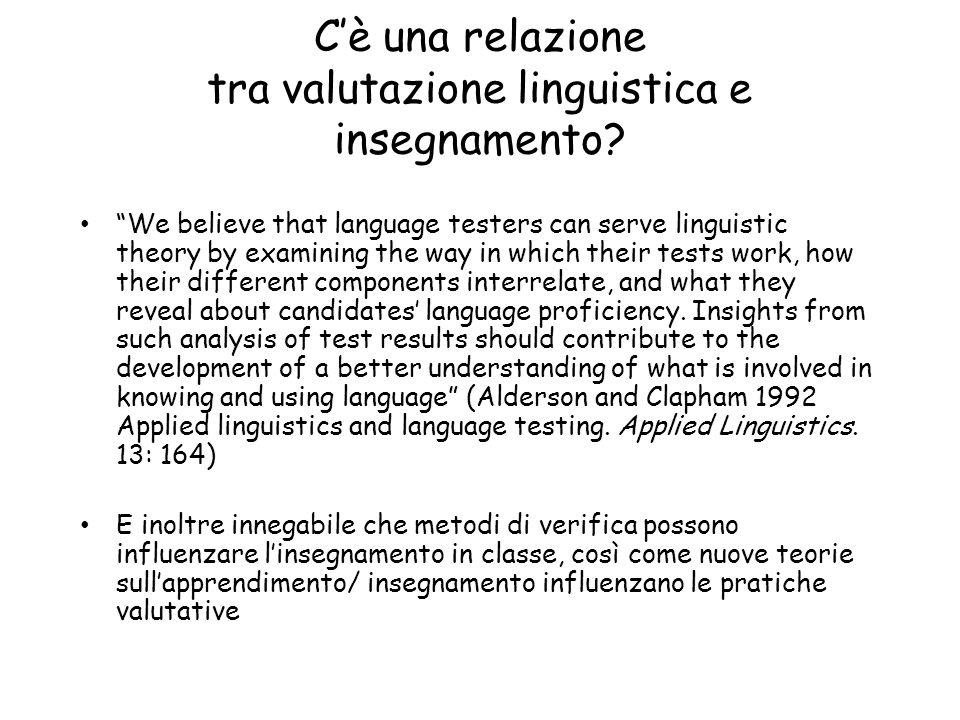 C'è una relazione tra valutazione linguistica e insegnamento