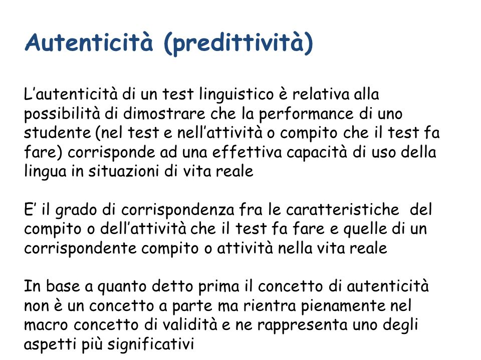 Autenticità (predittività)