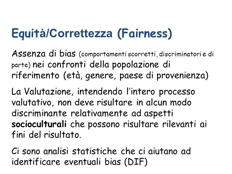 Equità/Correttezza (Fairness)