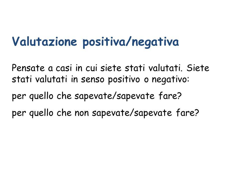 Valutazione positiva/negativa