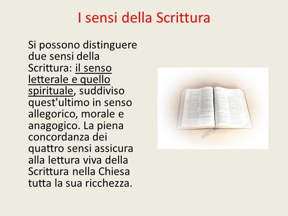 I sensi della Scrittura