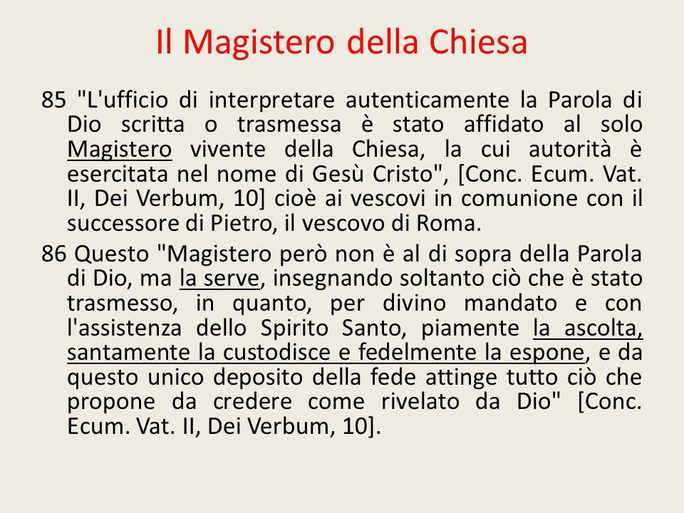 Il Magistero della Chiesa