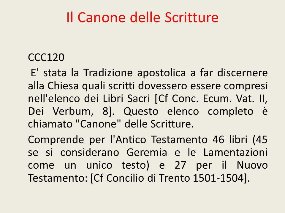 Il Canone delle Scritture