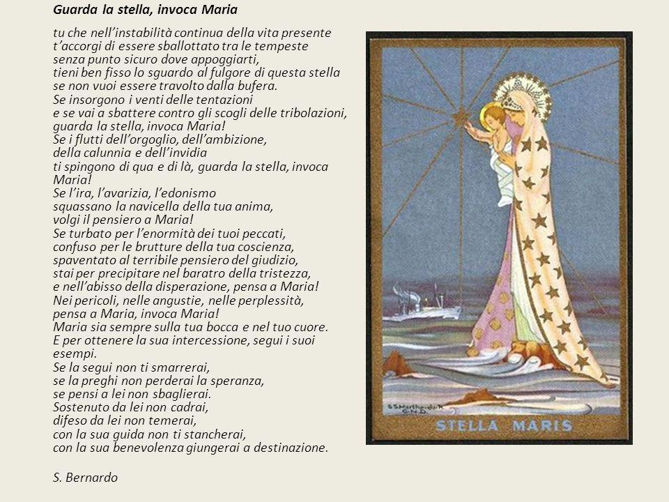 S. Bernardo Guarda la stella, invoca Maria
