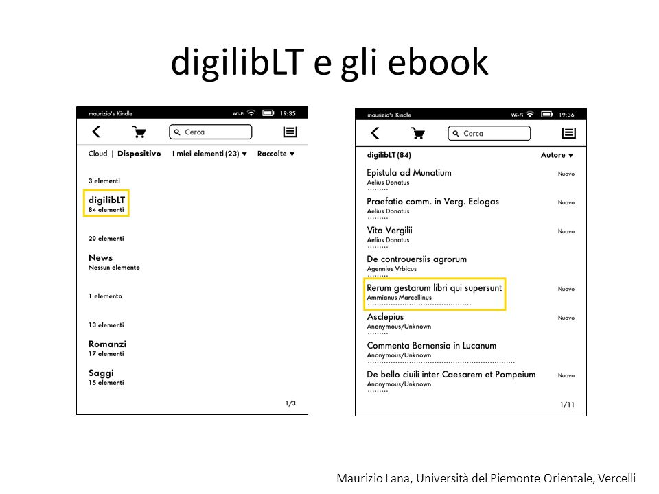 digilibLT e gli ebook what: a digital library, not a mass of files