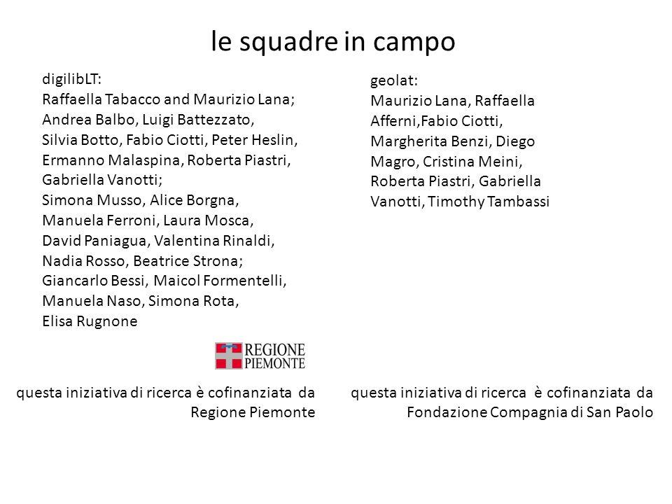le squadre in campo digilibLT: Raffaella Tabacco and Maurizio Lana;