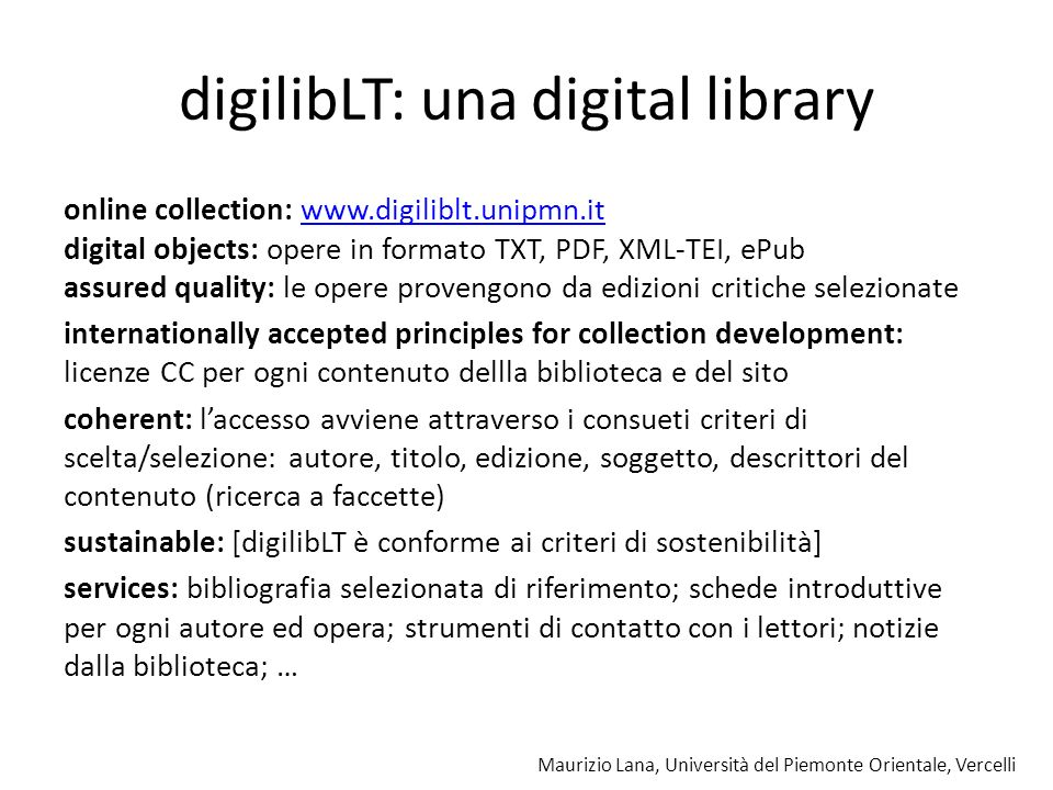 digilibLT: una digital library